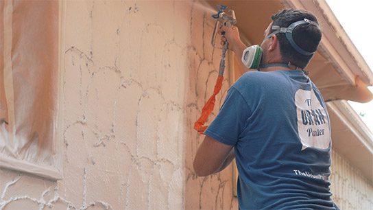 The-Urban-Painter-Calgary-Painters-Spraying-Stucco