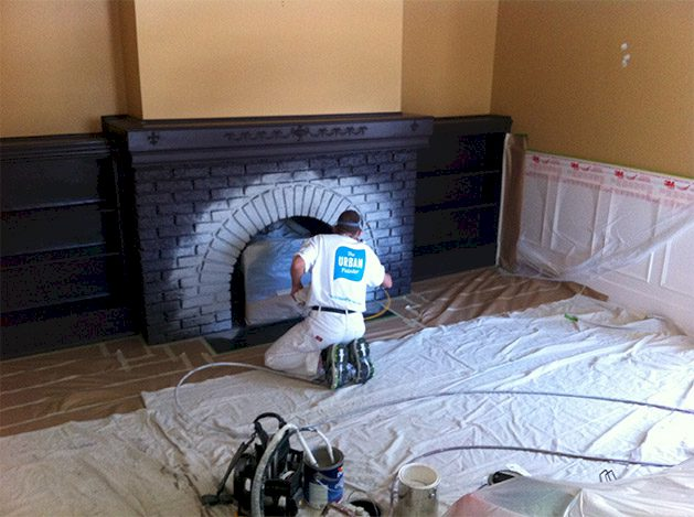 The-Urban-Painter-Calgary-Painting-Majestic-Fireplace-Before