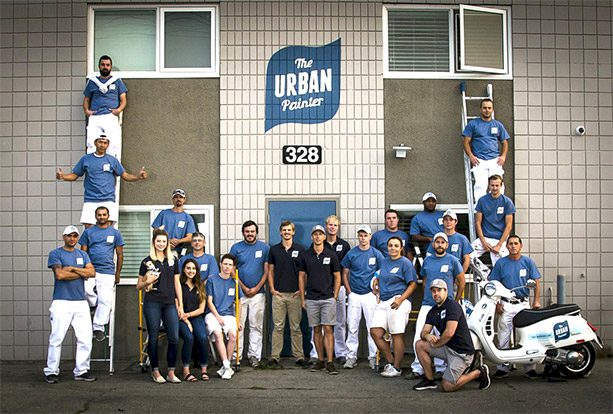 The-Urban-Painter-Calgary-Professional-Painters-Outside Office-Team-Picture