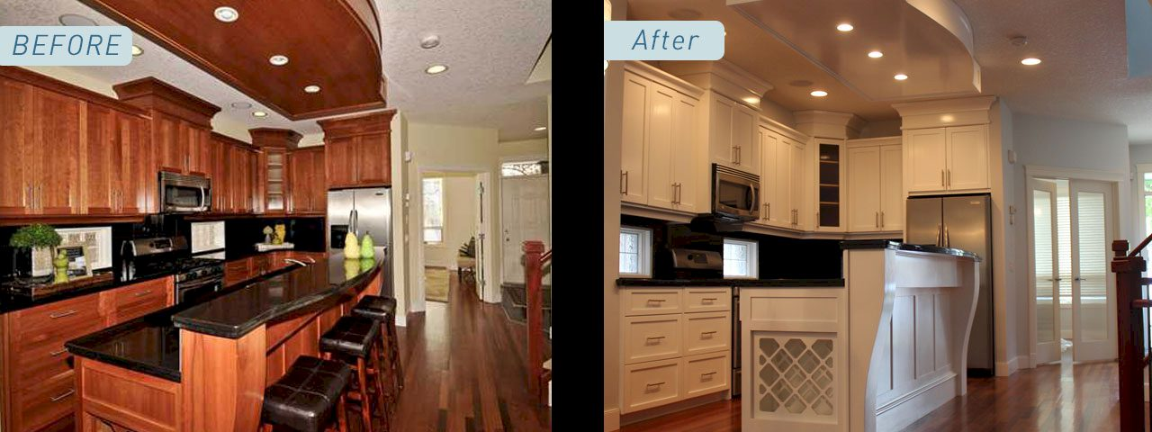 Cabinet Refinishing And Painting In Calgary The Urban